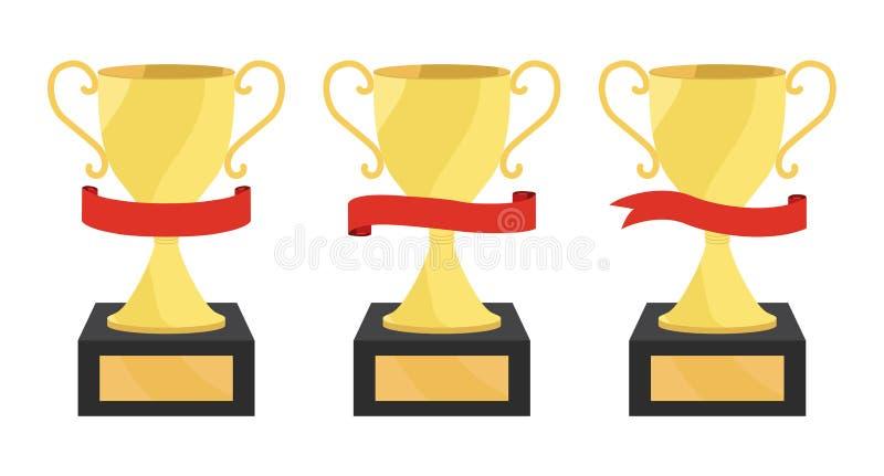 De koppen van de kampioen royalty-vrije illustratie