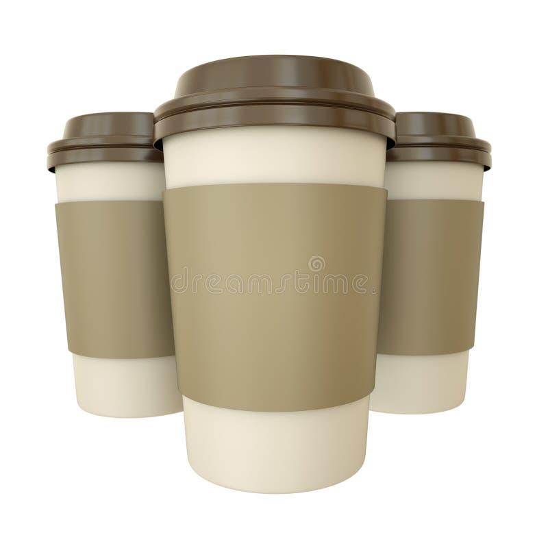 De koppen van de koffie royalty-vrije illustratie
