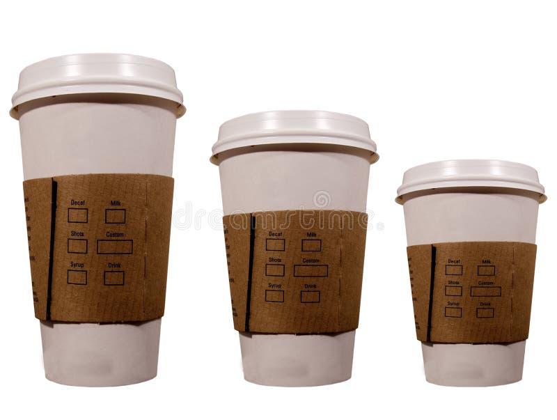 De koppen van de koffie royalty-vrije stock foto