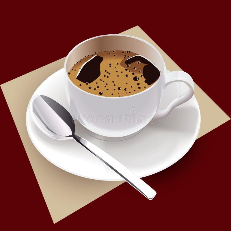 De kopvector van de koffie stock illustratie