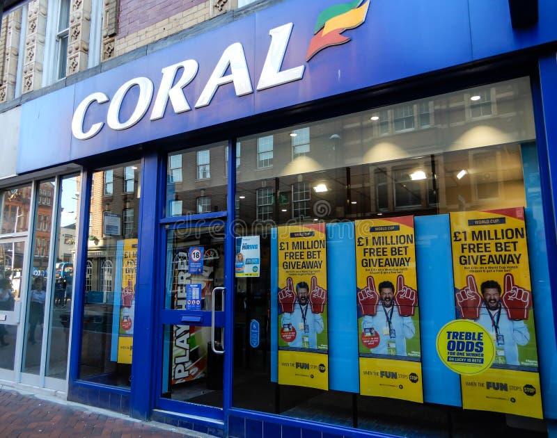 De koraalbookmakers slaan front op royalty-vrije stock foto's