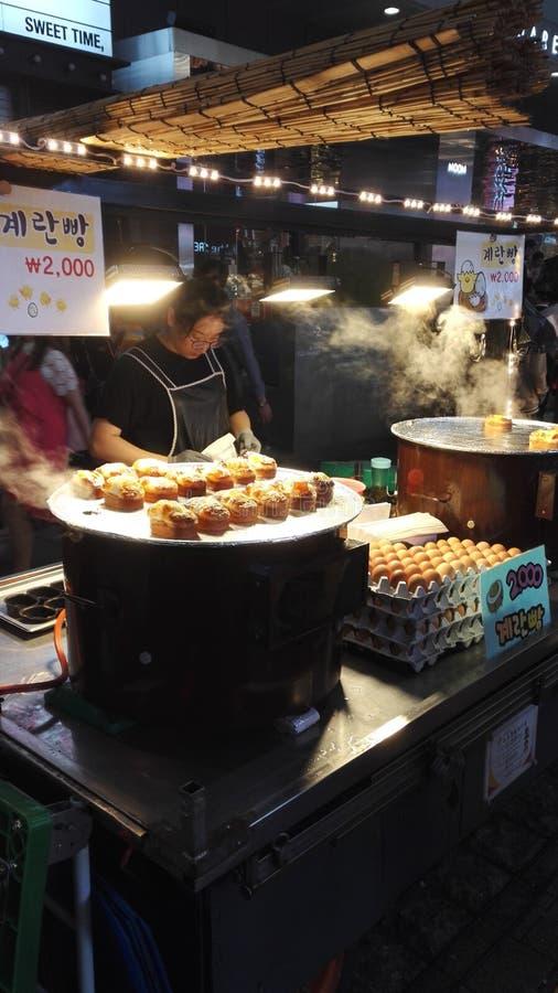 De Koreaanse box van het straatvoedsel royalty-vrije stock foto