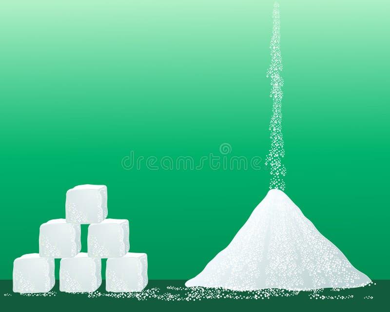 De korrels van de suiker stock illustratie