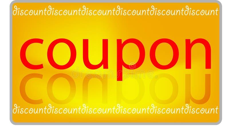 De korting van de coupon royalty-vrije illustratie