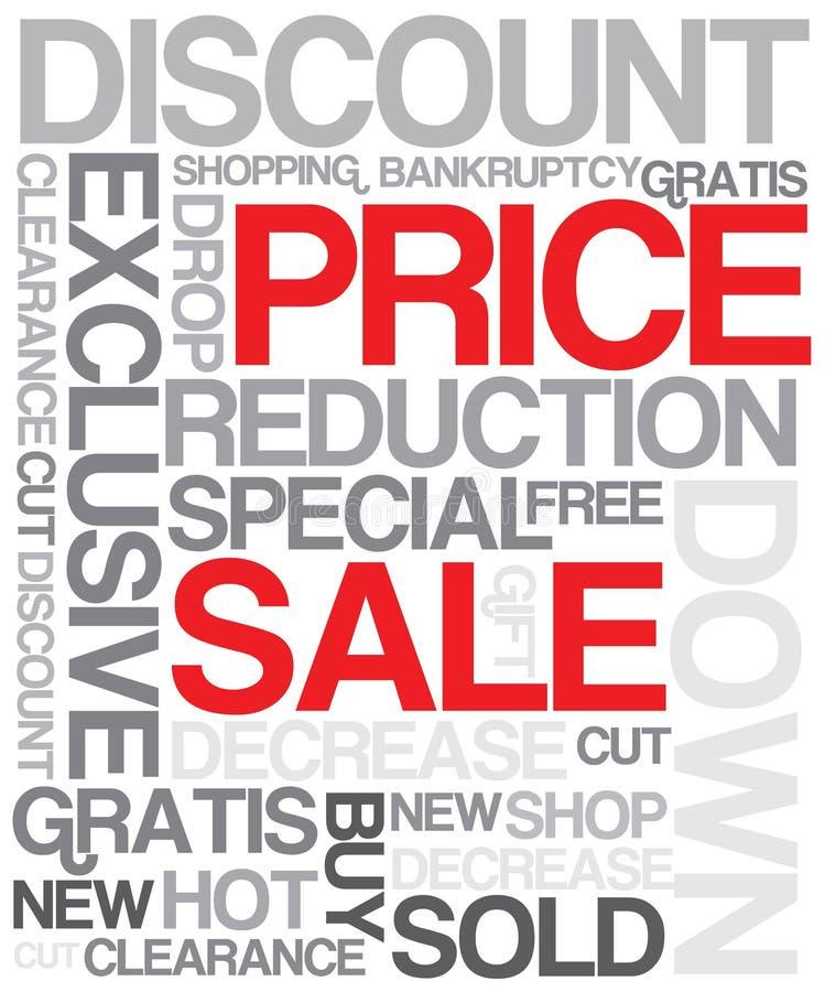 De kortingsaffiche van de verkoop stock illustratie