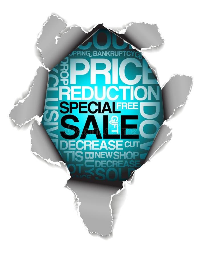 De kortingsreclame van de verkoop stock illustratie