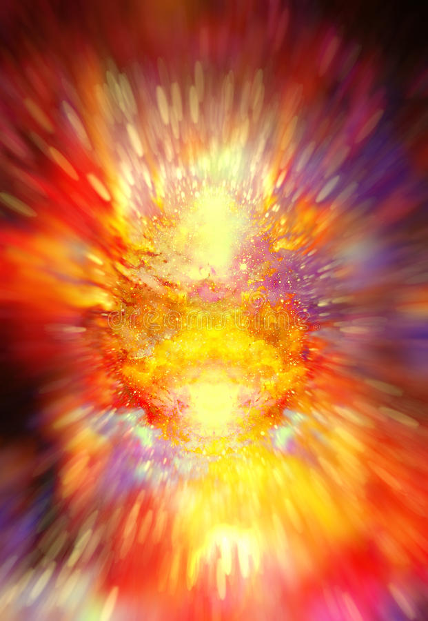 De kosmische ruimte en de sterren, kleuren kosmische abstracte achtergrond crystalic explosieeffect vector illustratie