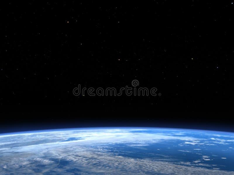 De Kosmische ruimteachtergrond van de aardeplaneet royalty-vrije illustratie