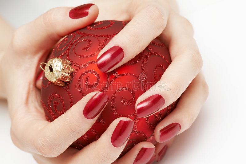 De kostbare bol van Kerstmis stock afbeelding