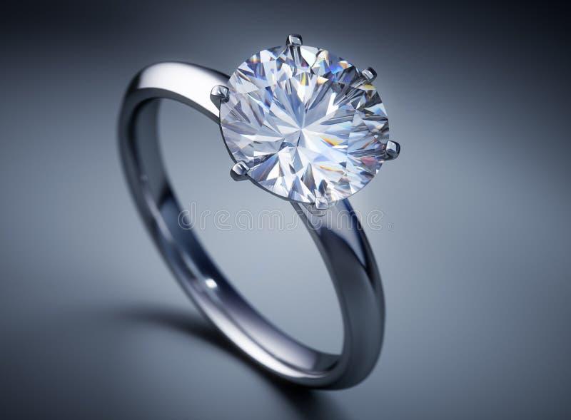 De kostbare glanzende ring van de patiencediamant vector illustratie