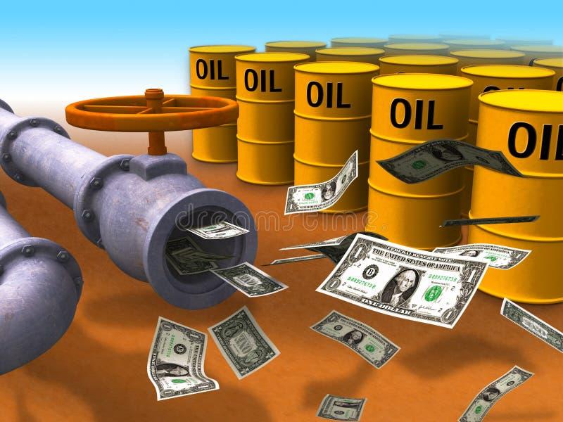 De kosten van de energie stock illustratie