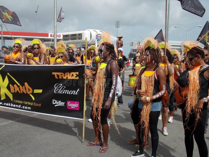 De Kostuums van het Cropoverfestival in Barbados stock afbeeldingen