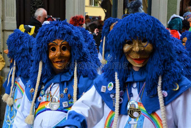 De Kostuums van Konstanz Fasnacht stock foto