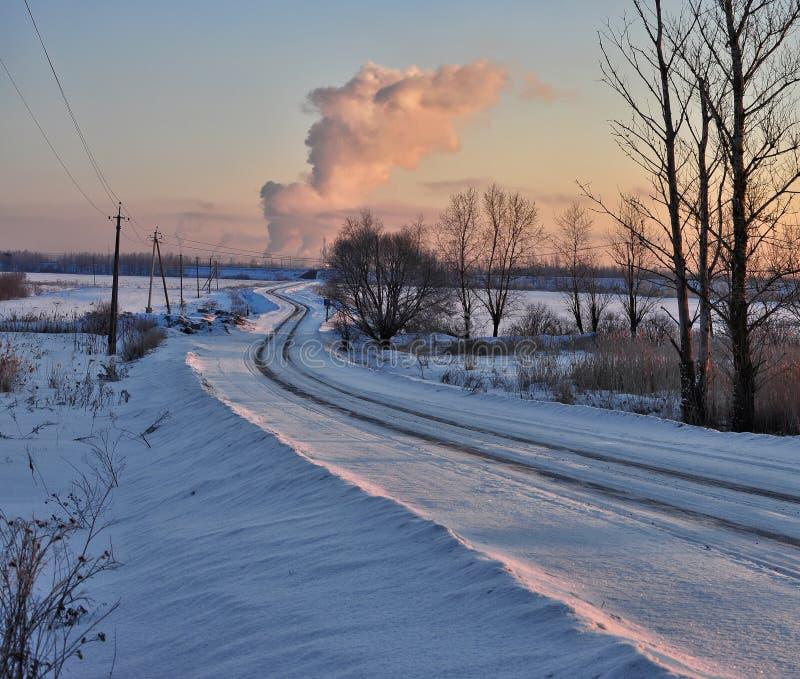 De koude dageraad royalty-vrije stock afbeelding