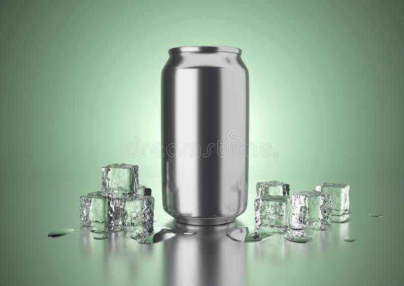 De koude drank kan vector illustratie