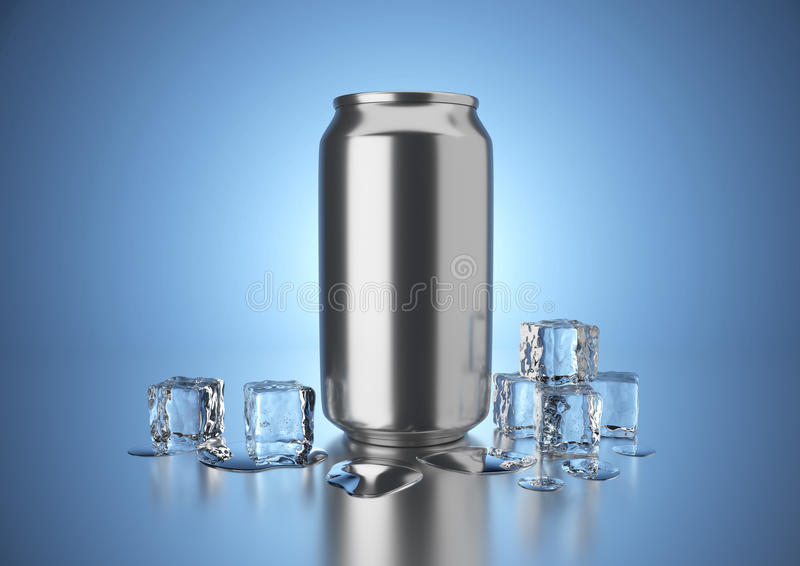De koude drank kan royalty-vrije illustratie