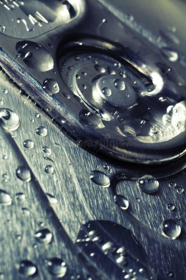 De koude dranken kunnen, close-updetail van deksel royalty-vrije stock foto's