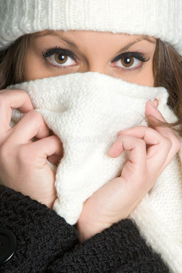 De koude Vrouw van de Winter royalty-vrije stock afbeelding
