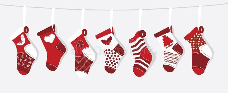 De Kous van Kerstmis stock illustratie