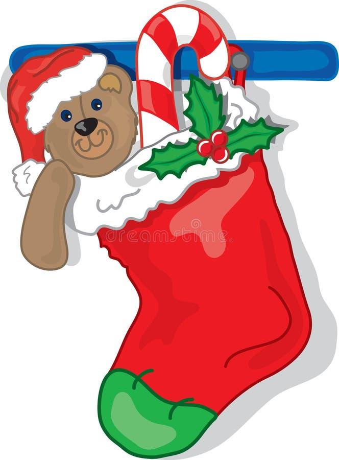 De Kous van Kerstmis royalty-vrije illustratie