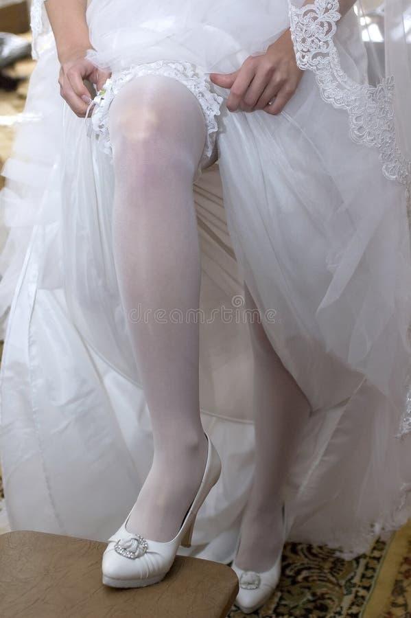 De kouseband van de bruid royalty-vrije stock foto's