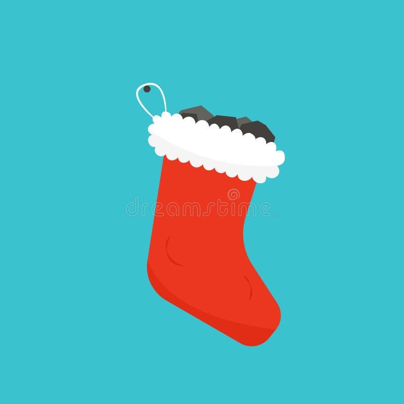 De koushoogtepunt van Kerstmis van steenkool royalty-vrije illustratie