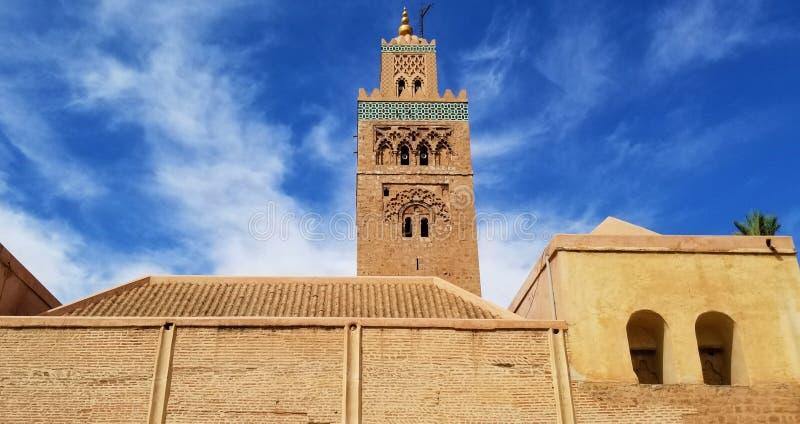 De Koutoubiamoskee Marrakech, Marokko is het meest bezochte monument royalty-vrije stock afbeeldingen