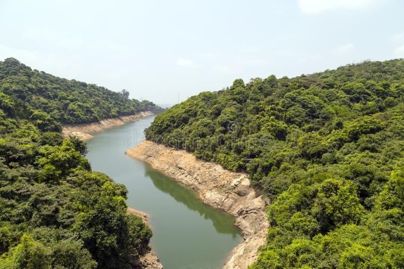 De Kowloon-Groep Reservoirs wordt gevestigd in Kam Shan Country Park royalty-vrije stock foto's
