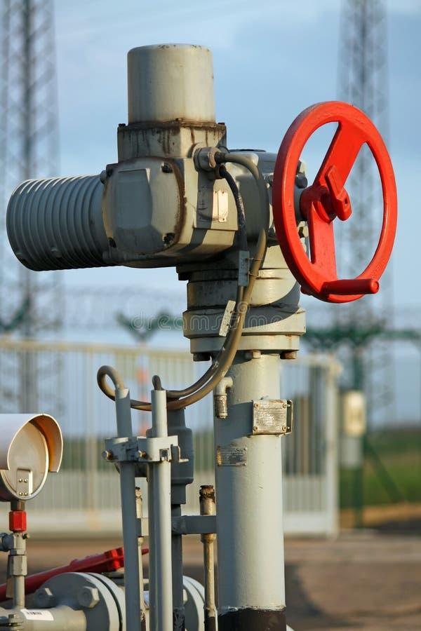 De kraan van het gas royalty-vrije stock afbeelding