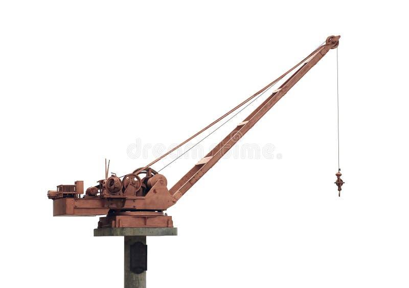 De kraan van het hijstoestel stock afbeelding
