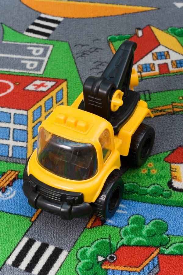 De kraan van het stuk speelgoed. stock fotografie