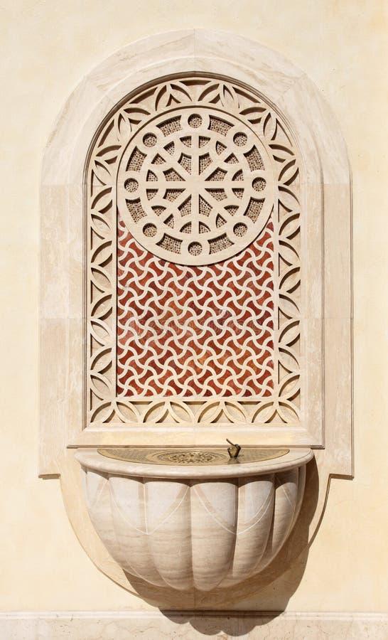 De kraan van het water in Doha royalty-vrije stock foto