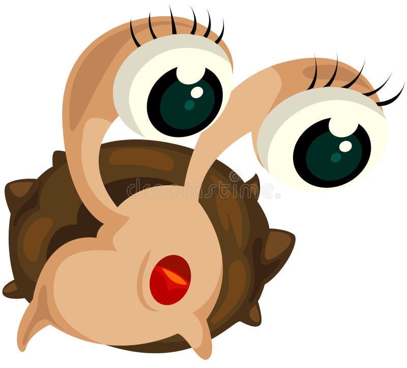 De krab van de kluizenaar royalty-vrije illustratie