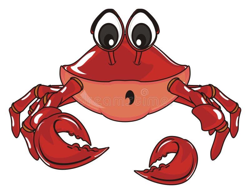 De krab verloor een klauw stock illustratie