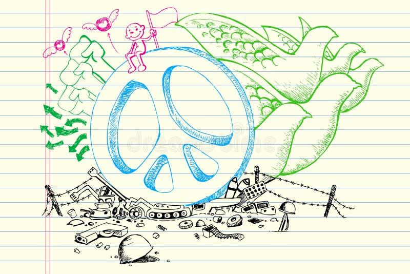 De Krabbel van de vrede stock illustratie