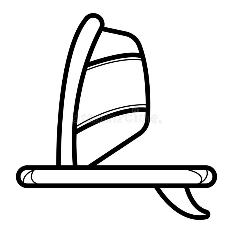 De krabbelpictogram van de Windsurfingsraad vector illustratie