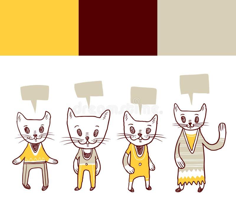 De krabbels van de kat stock illustratie