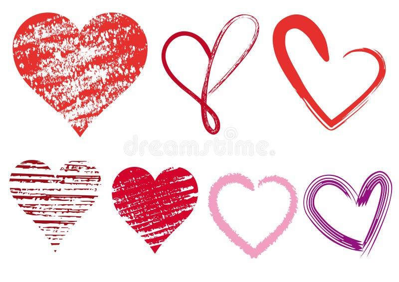 De krabbels van het hart, vector vector illustratie