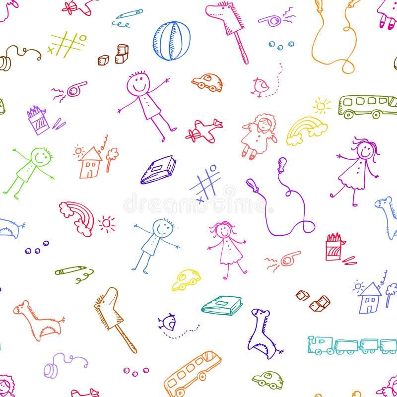 De krabbels van het speelgoed stock illustratie