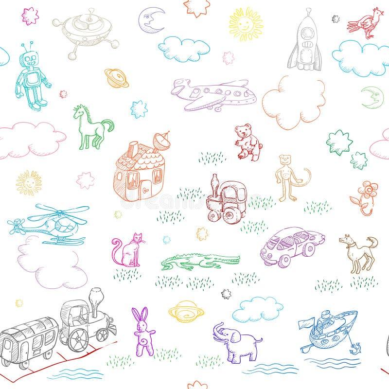 De krabbels van het stuk speelgoed vector illustratie