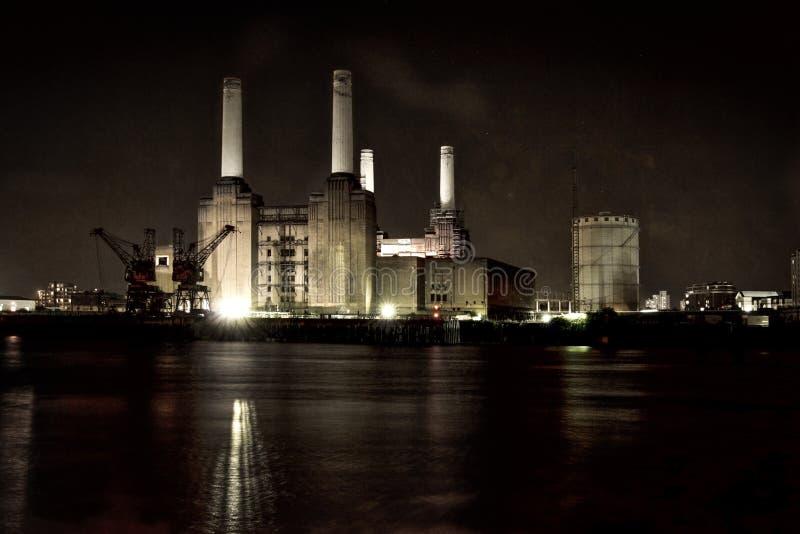 De Krachtcentrale Londen van Battersea stock afbeeldingen