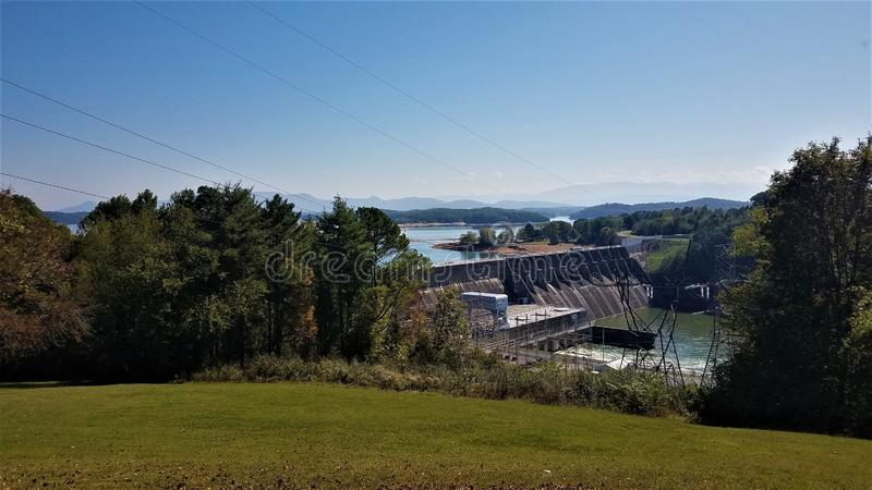 De krachtcentrale Tennessee van Douglas Dam Hydroelectric royalty-vrije stock foto's