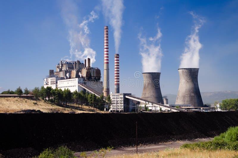 De krachtcentrale van de koolstof royalty-vrije stock fotografie