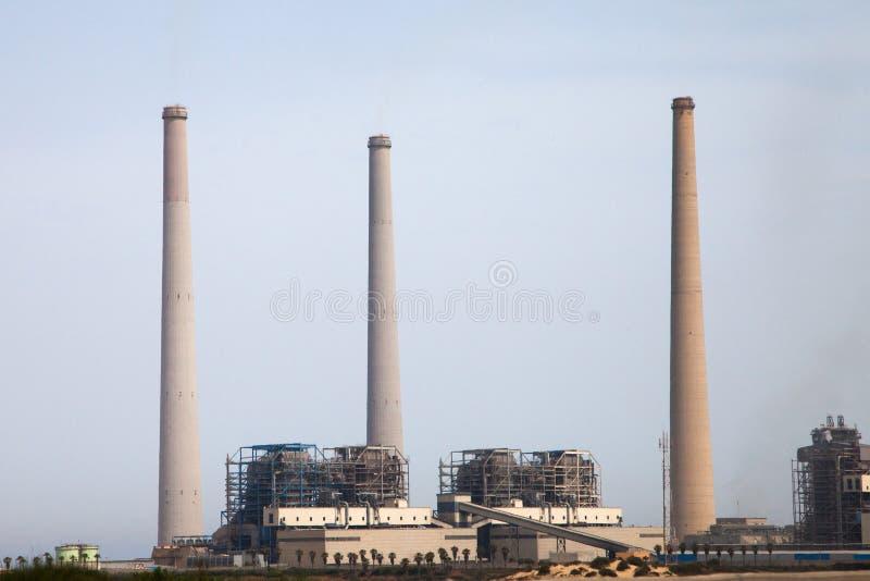 De krachtcentrale van de steenkool royalty-vrije stock afbeelding