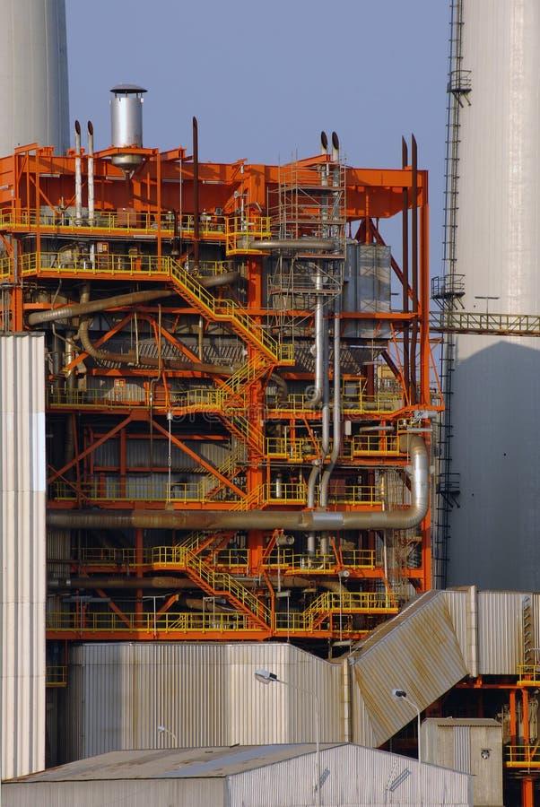 De krachtcentraledetails van de steenkool stock foto's