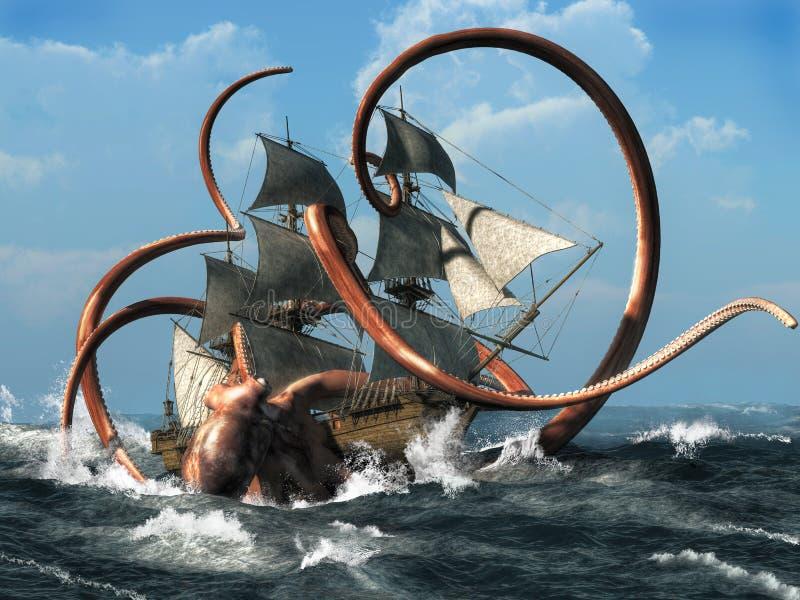 De Kraken royalty-vrije illustratie