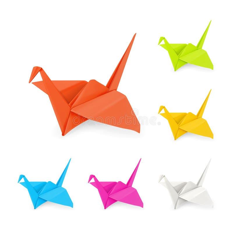 De kranen van de origami stock illustratie