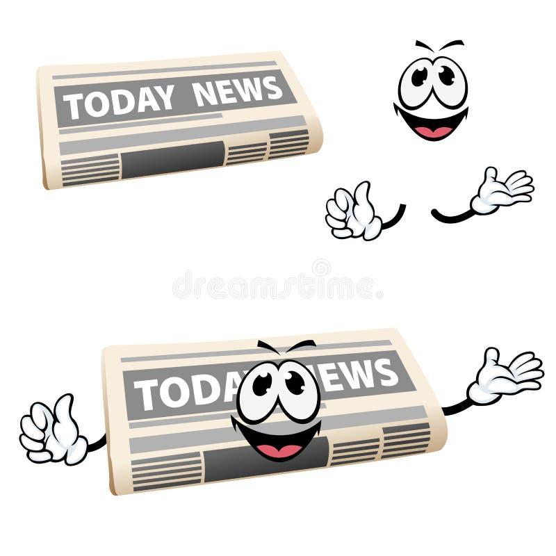 De krantenpictogram van het beeldverhaalnieuws met handen vector illustratie
