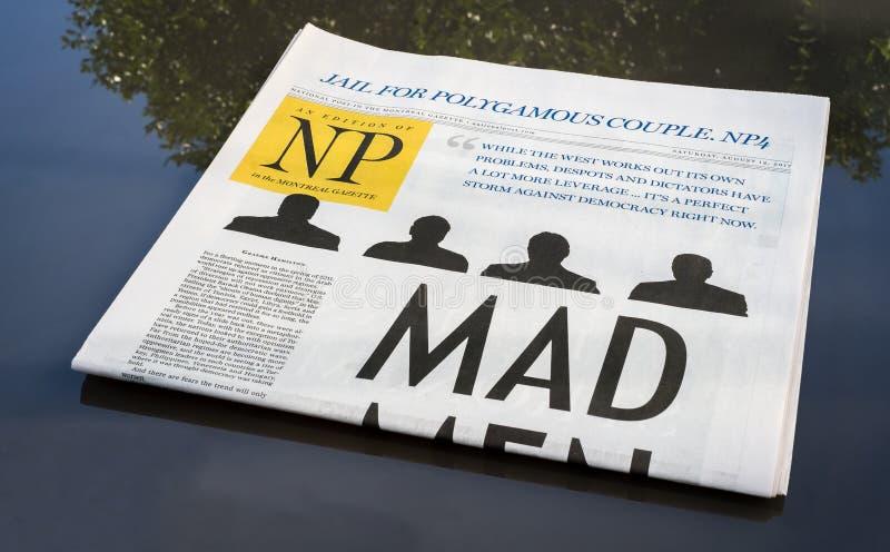 De Krantensectie van Montreal royalty-vrije stock foto's