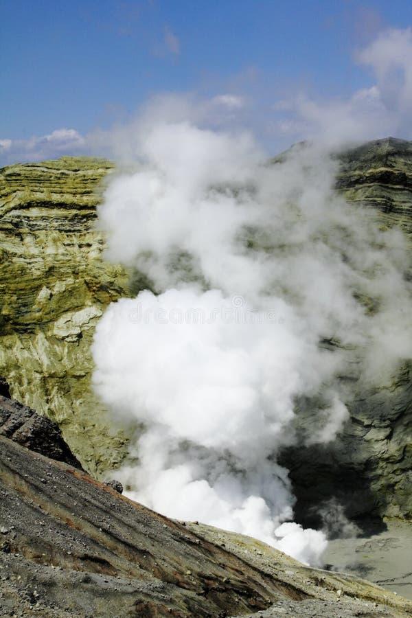 De krater Aso Japan van de vulkaan stock foto's